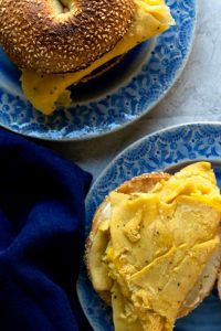 Chickpea egg breakfast sandwiches! Delicious, filling, and so close to the real thing you won't believe it.