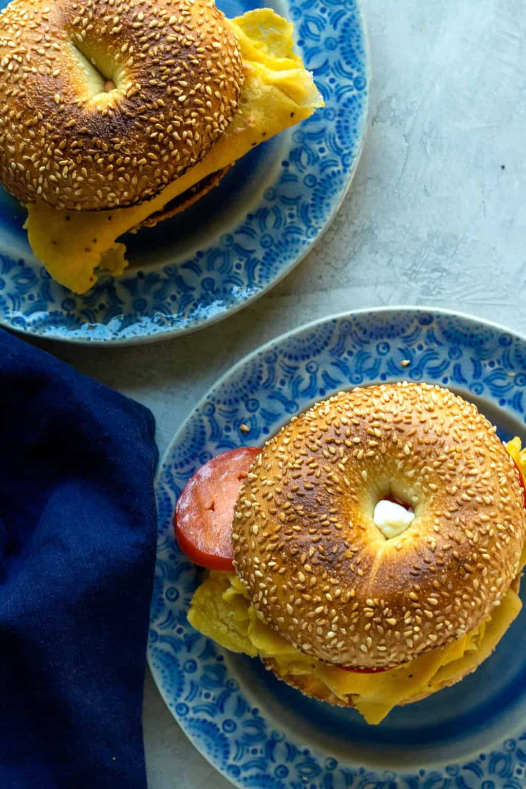 Chickpea egg breakfast sandwiches! Delicious, filling, cheesy, and so close to the real thing you won't believe it.