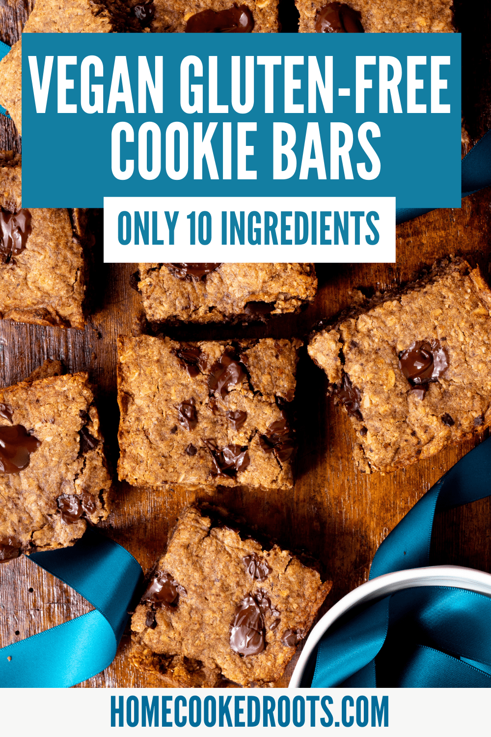 Pinterest Pin with Text for Cookie Bar Recipe