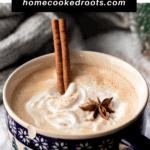 pinterest pin for latte