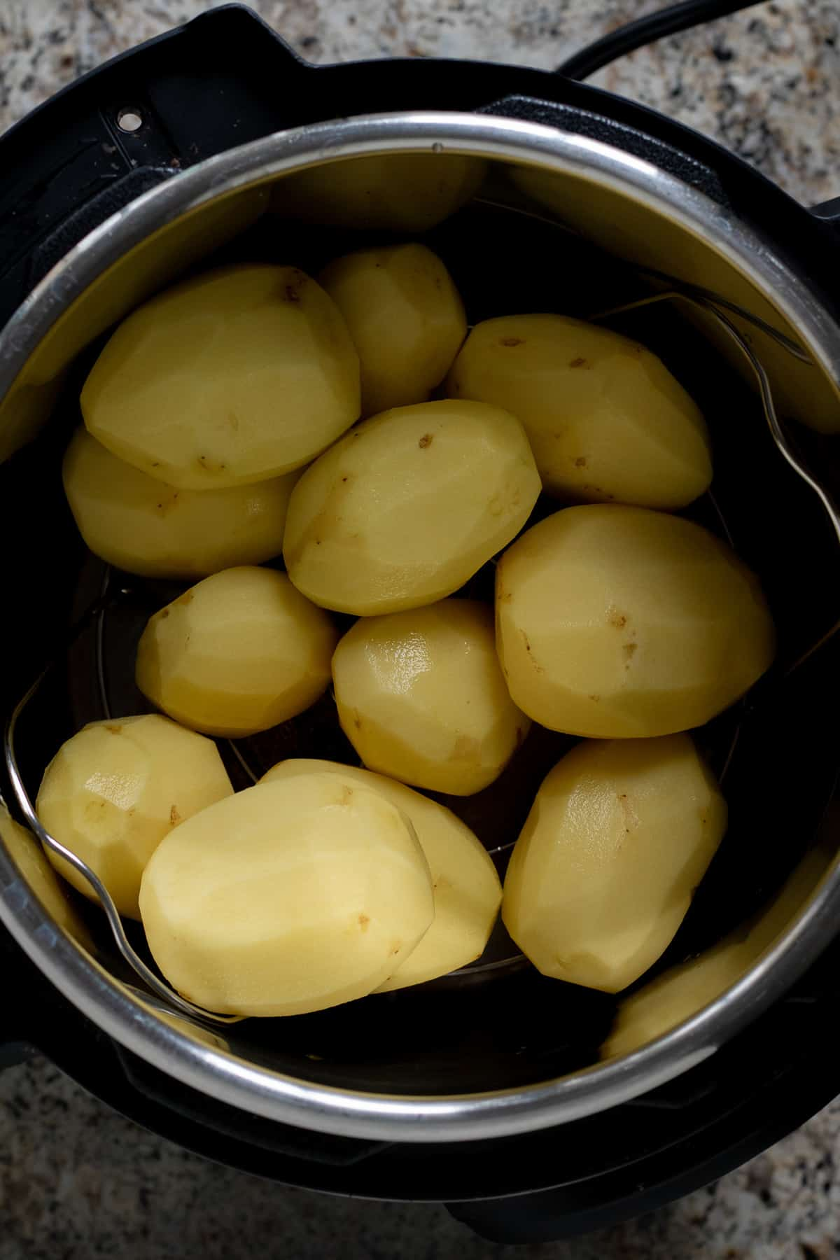 Gold potatoes in Instant Pot before cooking.