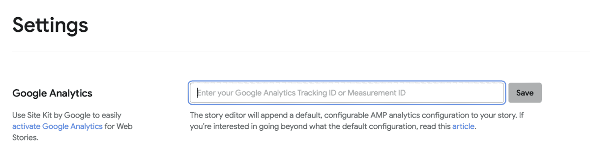 Image showing where to find Google Analytics section of plugin.